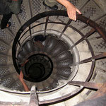 Internal staircase looking down