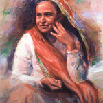 "1989 : Shireen - Oil - 24""x20"" - Baba's Home, Poona"