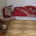 Gandhi's bed at Kingsley's.