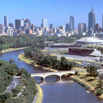 Looking west - Yarra River & city