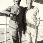 Quentin & Meher Baba on the SS Esperia in December 1932