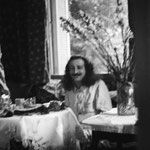 Meher Baba dining at Cannes, France