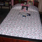 2004 - Mani's bed ; photo taken by Sher DiMaggio