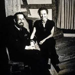 Rudhyar and his second wife, Eya Fechin, at home in New Mexico