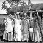 MSI Collection ; India- ( L-R ) Margaret Craske, Kitty Davy (behind), Delia De Leon, Norina Matchabelli, Korshed Irani, Mehera Irani & Mani Irani.