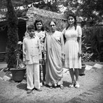MSI Collection ; 27 Aug.1948 Meherazad, India - ( L-R ) Jangoo, Naggu, Gilmai & Meheru.