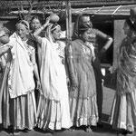 MSI Collection ; India - ( L-R ) Margaret Craske, Kitty Davy (behind), Delia De Leon, Norina Matchabelli, Korshed Irani, Mehera Irani & Mani Irani.