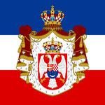 Old Kingdom of Yugoslavia flag - Royal standard