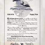 Certificate given for crossing the Equator