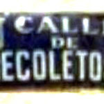 Calle de Recoletos wall sign