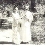 LM p3782 ; Meher Baba & Mehera at the Meher Spiritual Centre, Myrtle Beach ,S.C.,1952