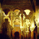 The Interior of the Mosque, Cordoba, David Roberts, 1838