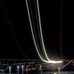 Time lapse plane ascending