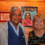 Shridhar with Pamela Butler-Stone