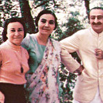 Meher Baba & Mehera with Delia at the Meher Spiritual Centre, Myrtle Beach ,S.C.,1952