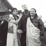 Gaimai with Norina Matchabelli & Baba's mother - Shirinmai, Meherabad Hill, 1937.  Glow mag.Feb.2001