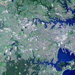Beacon Hill is located in the very top RH corner in this aerial view. Courtesy of NASA.