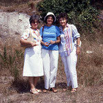1980 - France : Stella with Anne Giles and Lisa Sanford. Photo courtesy of Anne Giles
