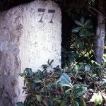 The old street marker outside Capo Di Monte