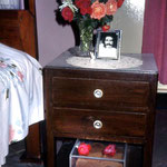 Baba's bedside drawers ; photo by Anne Giles