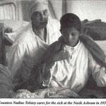 Nadine Tolstoy nursing in Nasik
