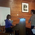 Jeanne with Debbie Nordeen on piano