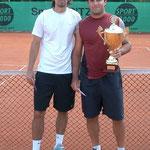 Finalist Julio Peralta (l.) und Turniersieger Mariano Delfino