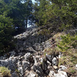 Letzter Anstieg vor dem Pfannstein Gipfel