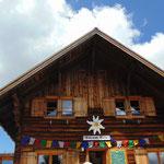 Pause am Rückweg bei der Goiserer Hütte