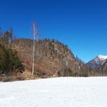 Am Rückweg ging es auf das Eis - hier nochmal der Blick von der Eisfläche auf den Ameisstein