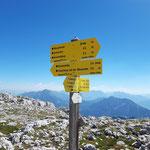 An dieser Stelle gabelt sich der Weg - entweder Richtung Zellerhütte oder zurück zur Wurzeralm