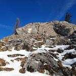 Letzter Abschnitt zum Gipfel