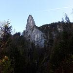 Wunderschöne Felsformationen am Rückweg