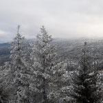 Ausblick vom Hochstein über Österreich, Deutschland und Tschechien