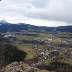 Ausblick auf Scharnstein (leider bei schlechterem Wetter)