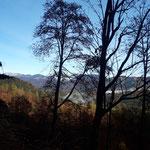 Der Blick ins Tal zeigt, wie weit wir schon gekommen sind