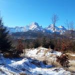 Von hier aus ist der Blick auf das Tote Gebirge unser ständiger Begleiter