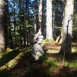 Steinmännchen am Gipfel