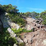 Terrain im Gipfelbereich