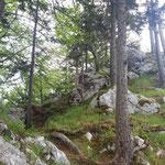 Kurze Passage zwischen den beiden Gipfelkreuzen