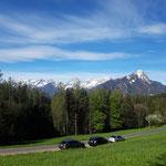 Ausblick vom Parkplatz auf das Tote Gebirge