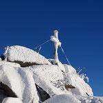 Endlich haben wir den herrlich verschneiten Gipfel erreicht