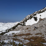 Umgebung beim Gipfelanstieg