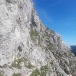 Hier sieht man noch kurz den Pfadverlauf zum Kleinen Schoberstein - danach geht es im Felsen weiter