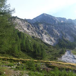 Blick von der Ursprungsalm auf die steirische Kalkspitze