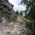 Letzter Wegabschnitt kurz vor dem Gipfel