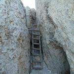 Abstieg durch die Stellungen