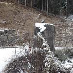 Da mehrere Forststraßen oder kleine Wege immer wieder abzweigen, ist es sinnvoll sich die eine oder andere Stelle zu merken - zum Beispiel diesen Stein
