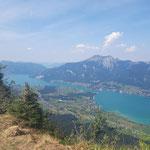 Blick von der Bleckwand auf den Wolfgangsee