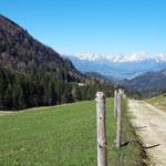 Blick über die Dörflalm auf das Tote Gebirge
